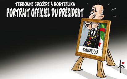 Tebboune succède à Bouteflika : Le portrait officiel du président - Dessins et Caricatures, Le Hic - El Watan - Gagdz.com