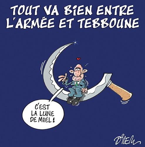Tout va bien entre l'aemée et Tebboune - Dilem - Liberté - Gagdz.com