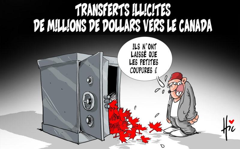 Transferts illicites de millions de dollars vers le Canada - Dessins et Caricatures, Le Hic - El Watan - Gagdz.com