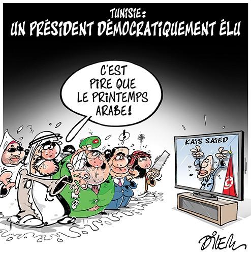 Tunisie : Un président démocratiquement élu - Dilem - Liberté - Gagdz.com