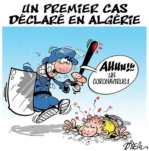 Un premier cas de coronavirus déclaré en Algérie - Dilem - Liberté - Gagdz.com