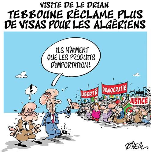 Visite de Le Drian : Tebboune réclame plus de visas pour les algériens - France - Gagdz.com
