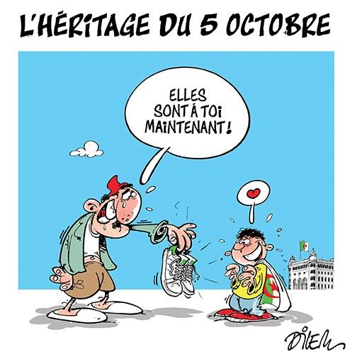 l'héritage du 5 octobre - Dilem - Liberté - Gagdz.com