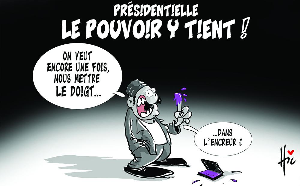 présidentielle : Le pouvoir y tient - Dessins et Caricatures, Le Hic - El Watan - Gagdz.com