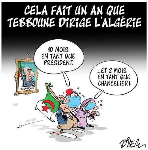 Cela fait un an que Tebboune dirige l'Algérie - Dilem - Liberté - Gagdz.com