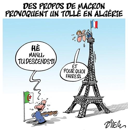 Des propos de Macron provoquent un tollé en Algérie - France - Gagdz.com