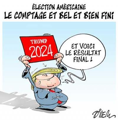 Election américaine, le comptage et bel bien fini et voici le résultat final - Dilem - TV5 - Gagdz.com