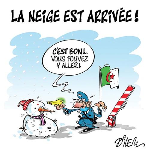 La neige est arrivée en Algérie - hiver - Gagdz.com