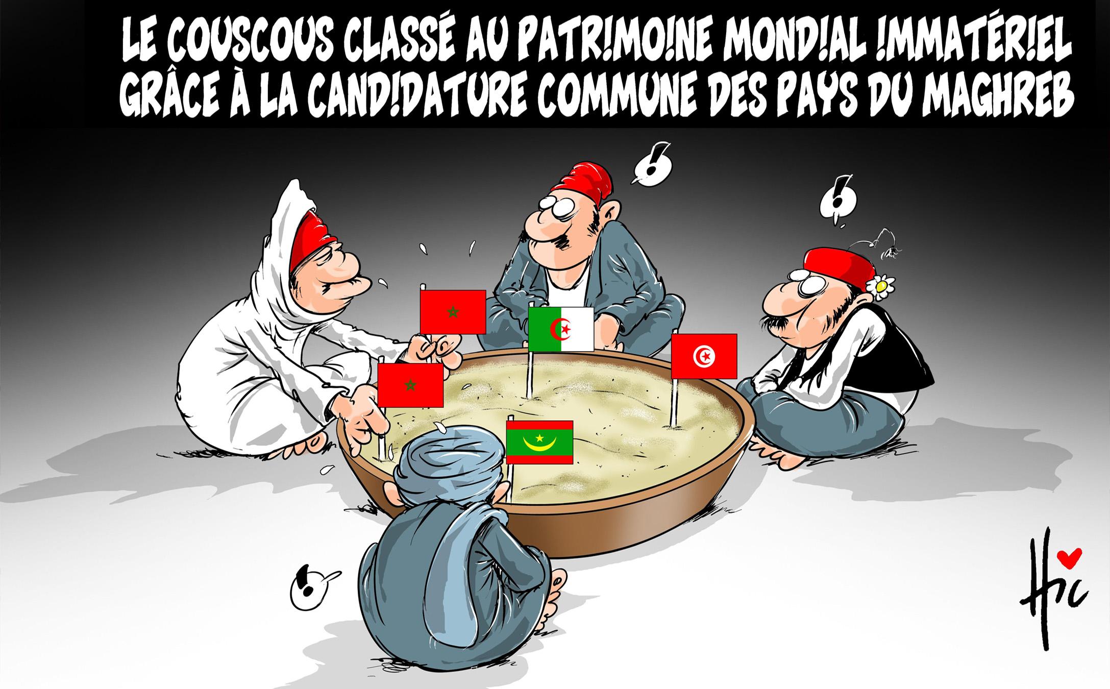 Le couscous classé patrimoine mondial immatériel grâce à la candidature commune des pays du maghreb - maghreb - Gagdz.com
