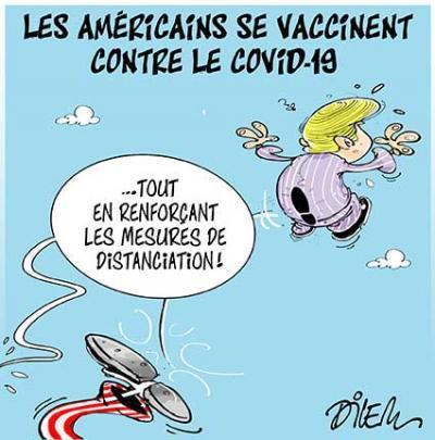 Les américains se vaccinent contre le covid 19 - Dilem - TV5 - Gagdz.com