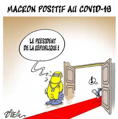 Macron positif au Covid 19 - Dilem - TV5 - Gagdz.com