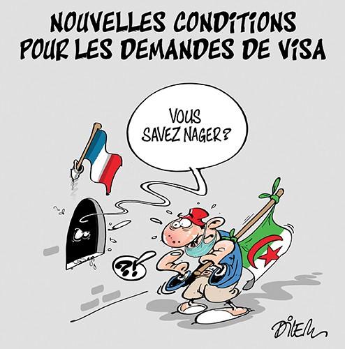 Nouvelles conditions pour les demandes de visa - Dilem - Liberté - Gagdz.com