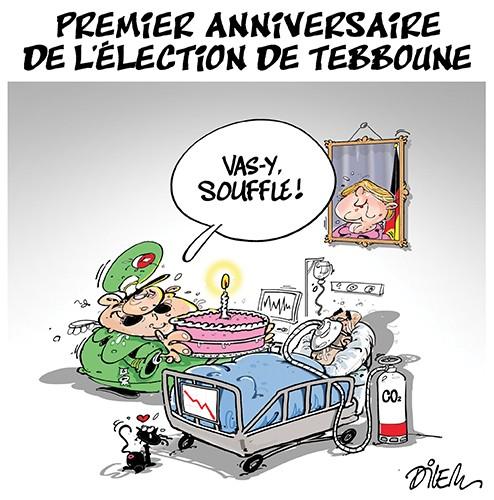 Premier anniversaire de l'élection de Tebboune - Dilem - Liberté - Gagdz.com
